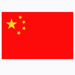 Bright background with flag of China.