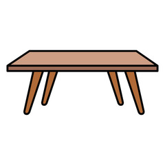 living room center table vector illustration design