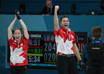 Olympics: Curling-Mixed Team Gold Medal Match
