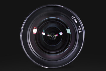 Professional digital camera lens with dark background Wall mural