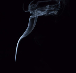 White smoke on black background for make smoke brush tool, Focus for adjustment  ..