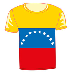 T-shirt with flag Venezuela