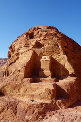 High Place of Sacrifice in the ancient town of Petra, Jordan, Middle East