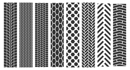 Traces of tires. Wheel tire tracks background design