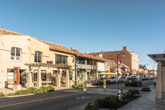 Burlingame Main Street, California