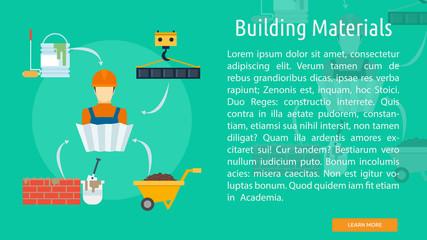 Building Materials Conceptual Banner