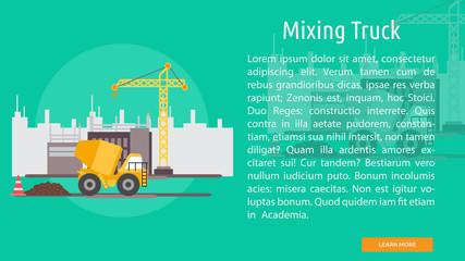 Mixing Truck Conceptual Banner