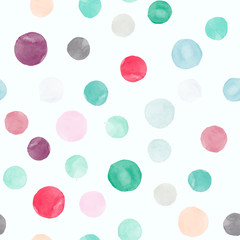 Watercolor vector seamless pattern for wallpaper, pattern fills, web page background, surface textures in  different colors