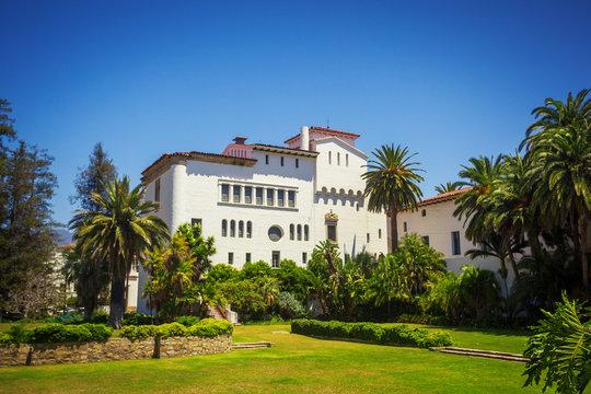 Colonial architecture style in Santa Barbara
