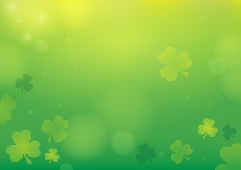 Poster For Kids Three leaf clover abstract background 1