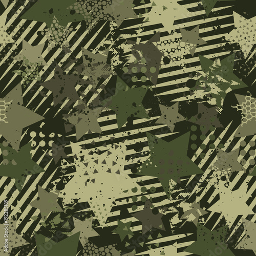 Abstract Camouflage Seamless Pattern Texture Military