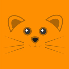 Cute Orange Mouse Face Background Illustration