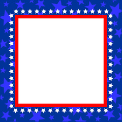 American pattern frame symbols with empty space for your text and images.