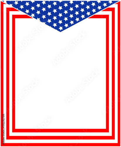 Abstract American flag frame with empty space for your text and ...