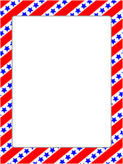 American stylized frame with blank space in the middle.