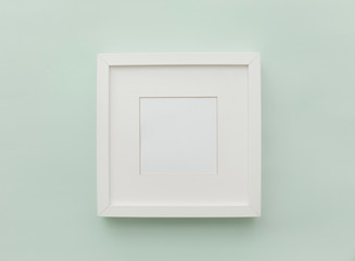 Mockup white frame. Neutral Minimalist Flat Lay Scene