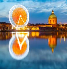 Fototapete - Toulouse landmarks by river. France