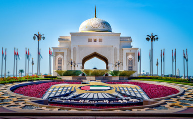 Foto auf Acrylglas Abu Dhabi Entrance to the Presidential Palace in downtown Abu Dhabi