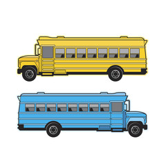 isolated school bus vector illustration