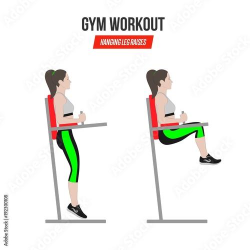 Sport Exercises Gym Workout Hanging Leg Raises Captain S Chair