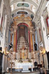 Portugal, autel de l'église Nossa Senhora da Lapa à Porto