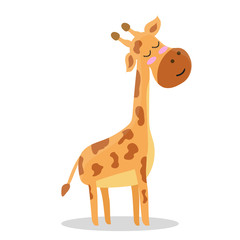 Cute. Giraffe. A cartoon. Scandinavian style. Children's. print. For a boy and a girl. For otkrvtki, clothes. For your design.