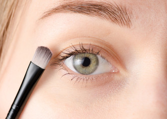 Female eye natural brush for shadows