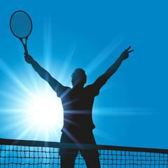 tennis - tennisman - victoire - gagnant - gagner - vainqueur - réussite - succès - compétition