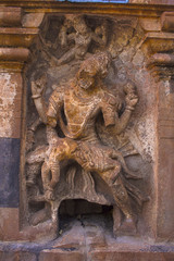 Narsimha sculpture. Mahakuta Temples, Badami, Karnataka