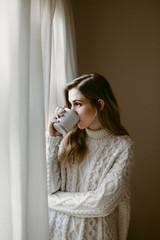 Girl in Knitwear
