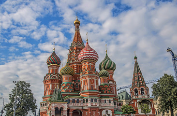 Famous Saint Basil's Cathedral, Red Square, Moscow, Russia
