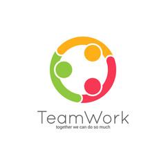 Teamwork logo. Team union on white background