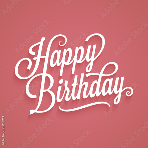 Happy Birthday Vintage Lettering Birthday Card Logo Retro