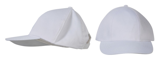 Male headdress. cap. white. set. Isolated. For your design.