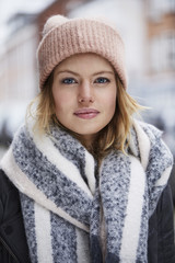Stunning beauty in cold weather, portrait