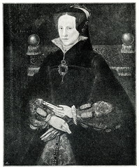 Portrait of Mary I of England by Antonio Moro; 1554 (from Spamers Illustrierte Weltgeschichte, 1894, 5[1], 594)