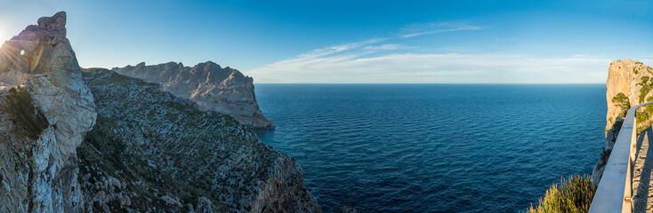Aussicht vom Mirador Es Colomer auf Mallorca in westlicher Richtung