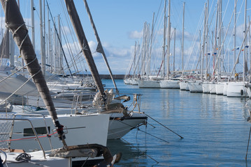 Sailboats in Alimos Marina