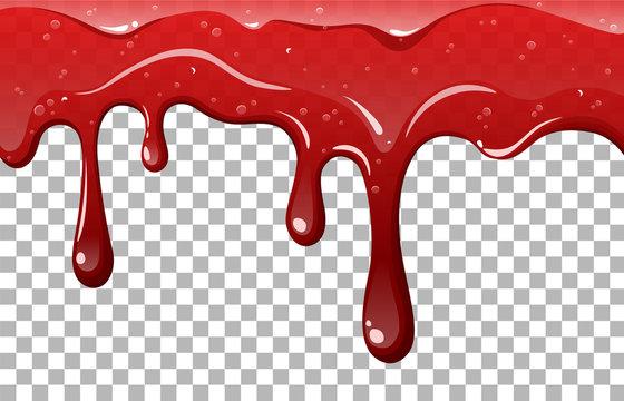 Dripping jam vector illustration