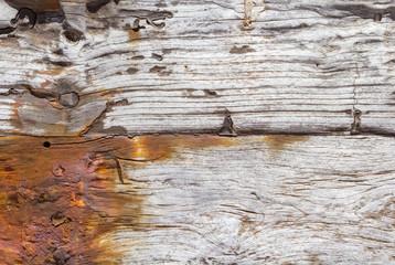 fond vieux bois ancien, rouillé et troué