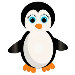 a cute penguin cartoon.penguin vector illustration