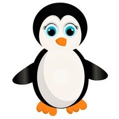 a cute penguin cartoon.penguin vector illustration