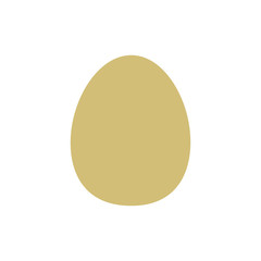 Flat egg icon isolated on white background. Golden egg icon for use in variety of projects. Gold vector egg icon for web sites and apps.