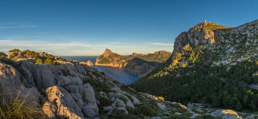 Aussicht vom Mirador Es Colomer auf Mallorca richtung Norden