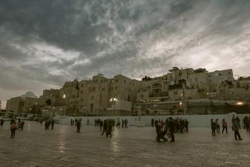 Western Wall in Jerusalem in Israel