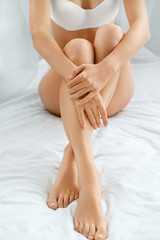 Beautiful Female With Long Legs And Smooth Skin