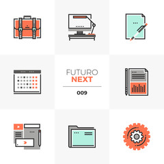 Business Things Futuro Next Icons