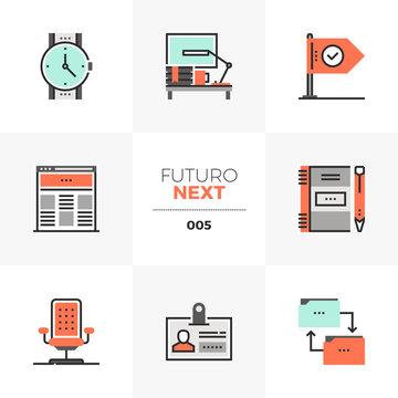 Business Workflow Futuro Next Icons