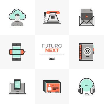 Business Communications Futuro Next Icons
