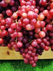 Purple grapes produce from farmers in Thailand.
